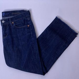 7 For All Mankind Cropped Straight Leg Jeans, 25